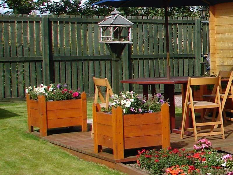 decking in London garden